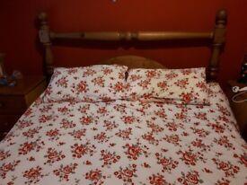 SOLID PINE KINGSIZE BED £50