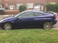 Toyota Celica 2006 excellent condition bodywork and blue & black leather interior real eye catcher