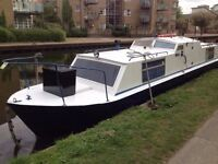 Custom live aboard canal narrowboat built to Dutch Cruiser design style. All steel construction.