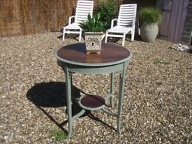 Side table shabby chic hand painted in french grey