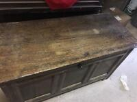 Antique solid wood chest