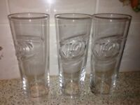 Pint Size Drinking Glasses 3 for £1