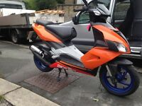 Aprilia sr50 with lots of extras