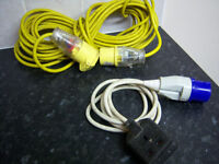Approx 40 feet of 110 volt cable, and a short plug cable