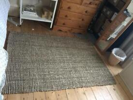 Marks and Spencer jute rug - great condition