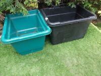 4 x large deep garden patio vegetable planters