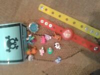 Moshi Monsters watch and bracelet with detachable charms and free moshis
