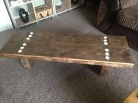 4ft Chunky Reclaimed Wood Coffee Table