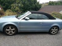 (Spares or Repair) Audi, A4, Convertible, 2003, Manual, 2976 (cc), 2 doors