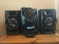 Sony music centre with CD Player, Radio, Docking station & speakers
