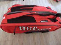 Brand new - Wilson Federer Elite 12 Racket Bag - slight defect hence price