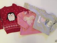 BABY GIRL CLOTHES BUNDLE - 3 Girls Tops inc Monsoon - Excellent Condition - Kids Childrens Clothes