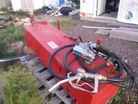 Diesel fuel tank and nozzle