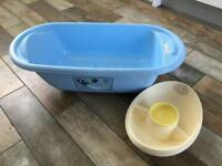 Baby bath and top and tail bowl