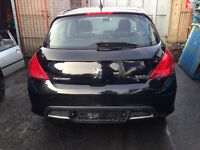 BREAKING - PEUGEOT 308 BOOTLID - BLACK - ALL PARTS AVAILABLE
