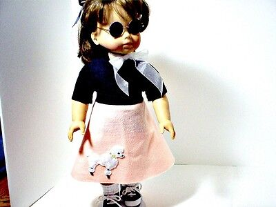 50's POODLE SKIRT OUTFIT FOR YOUR  AMERICAN GIRL DOLL  - 50s Girl Outfit