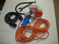 caravan cables, regulator, gas spanner ect