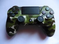 Sony PlayStation DualShock 4 Controller - Green Cammo +HARD CARRYING CASE