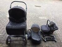 Baby pram, stroller, pushchair, car seat, carrycot travel system buggy