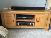 Oak coffee table and tv unit