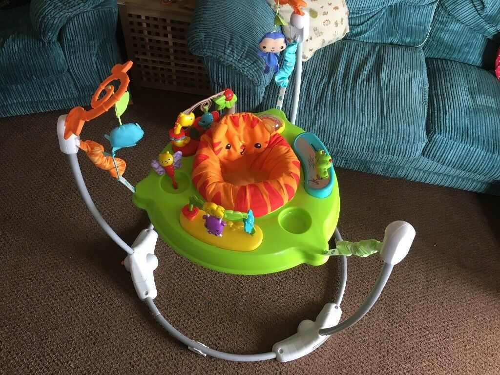 fc6839768 Fisher-Price Roaring Rainforest Jumperoo Baby Bouncer 360 degree ...