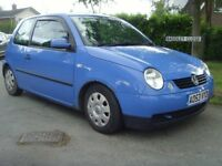 VOLKSWAGEN LUPO 1.7 SDI DIESEL £30.00 A YEAR ROAD TAX MOT MAY 2019