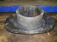 Angled chimney collar