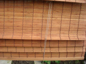 """ROMAN WOODEN BLIND 71"""" X63"""" APPROX VERY UNIQUE"""