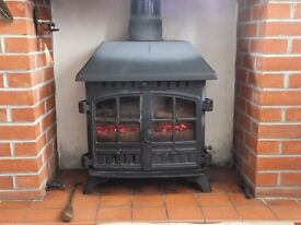 Hunter Herald 8 - Multi-Fuel Stove - Low Canopy - 7-9kw