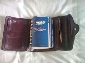 Vintage personal organiser executive time planner filofax journal