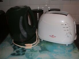 small light weight toaster and kettle