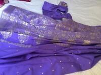 Lilac sari silk lovely
