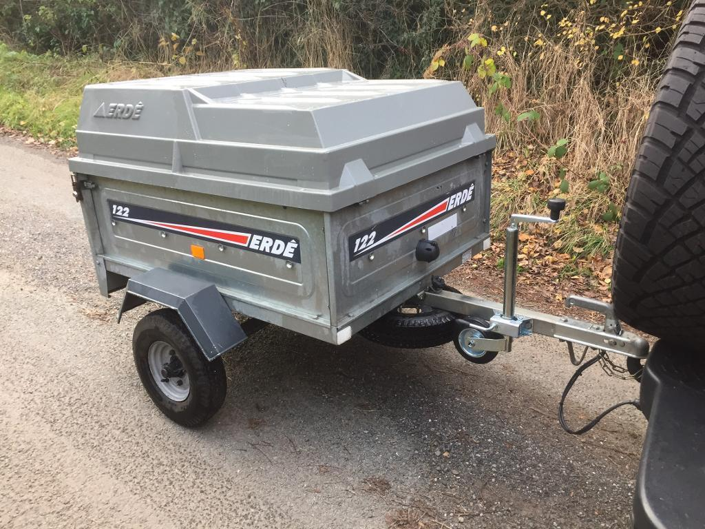 Erde 122 Trailer With ABS Hard Top Lid Jockey Wheel And Spare Wheel And Tyre camping