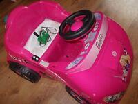 girls barbie electric car