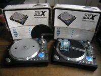 2 x Numark TTX1 Professional Direct-Drive DJ Turntable Record Player