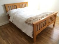 Excellent condition, Wooden double bed frame for sale