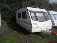 Deposit taken 4 Berth Abbey Vogue GTS 1999 with Awning water & waste & extras