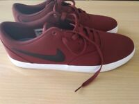 New Nike Red Skateboard Trainers