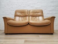 Ekornes Stressless Two Seater Reclining Sofa (DELIVERY AVAILABLE FOR THIS ITEM OF FURNITURE)