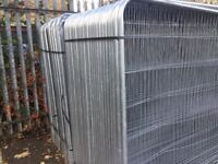 Heras style security fence panels, roundtop site fencing