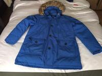Mens 100 % down puffa coat size large