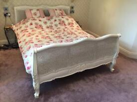 French shabby chic double bed