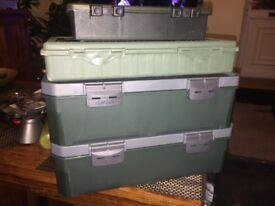 CARP FISHING TACKLE BOXES