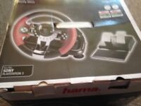 Hama thunder v5 steering wheel and pedals