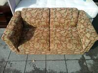 Floral pattern sofa bed