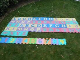 Foam Mat letters and numbers