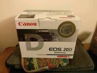 Canon EOS 20D DSLR & 18-55mm EF-S lens