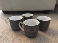 Next Monochrome Mugs x4