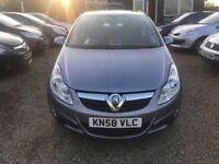 VAUXHALL CORSA 1.4 i 16v CLUB HATCH 5DR 2008(58)*IDEAL FIRST CAR*CHEAP INSURANCE* EXCELLENT CONDITON