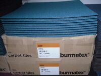 "Burmatex ""Academy Carpet Tiles, 56 tiles 14m2, Dover Teal (Turquoise)."